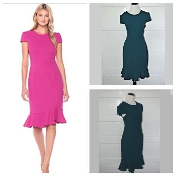 c967ef729614 Betsey Johnson Dresses & Skirts - Betsey Johnson Scuba Crepe Dress Teal 10